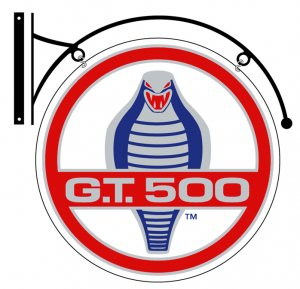 COBRA G.T. 500 DOUBLE SIDED DISK METAL SIGN BRACKET