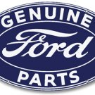 GENUINE FORD PARTS OVAL STEEL SIGN