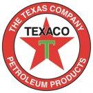 """25.5"""" TEXAS COMPANY HEAVY STEEL BAKED ENAMEL SIGN 25.5"""""""