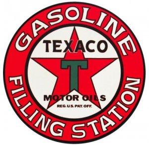 "25.5"" TEXACO FILLING STATION HEAVY STEEL SIGN"
