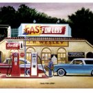 GAS FOR LESS RETRO METAL SIGN