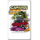 RAT FINK CAMAROS MAKE ROAD KILL METAL SIGN