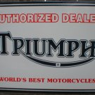 TRIUMPH MOTORCYCLE AUTHORIZED DEALER PORCELAIN COATED SIGN