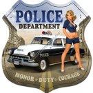 POLICE DEPARTMENT TIN SIGN 24 GAUGE