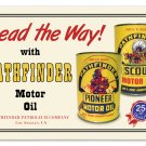 PATHFINDER MOTOR OIL TIN SIGN 24 GAUGE