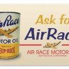 AIRRACE MOTOR OIL TIN SIGN 24 GAUGE