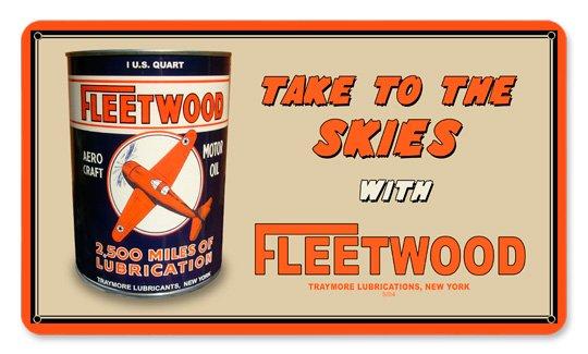 FLEETWOOD LUBRICATIONS METAL SIGN 24 GAUGE