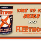 FLEETWOOD LUBRICATIONS METAL SIGN 24 GAUGE