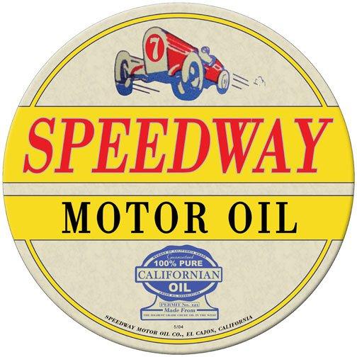 SPEEDWAY OIL METAL SIGN 24 GAUGE
