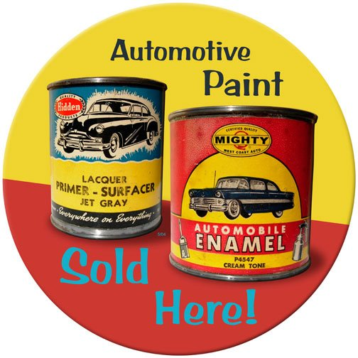 AUTOMOTIVE PAINT SOLD HERE METAL SIGN 24 GAUGE
