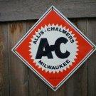 ALLIS-CHALMERS PORCELAIN-COATED SIGN