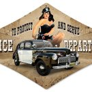 POLICE DEPARTMENT SIGN 1942 FORD
