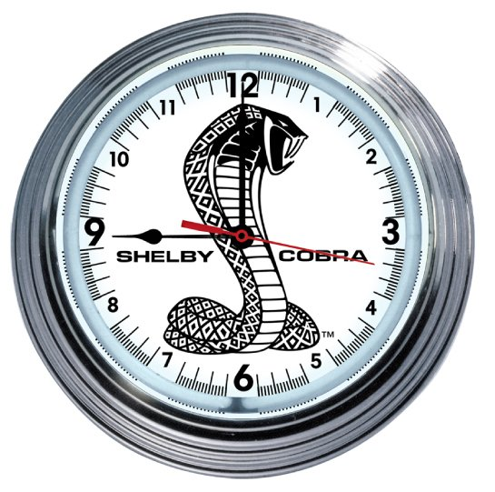 SHELBY COBRA RETRO NEON CLOCK