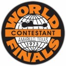 WORLD FINALS CONTESTANT AMARILLO TEXAS 1973 HEAVY STEEL SIGN