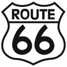 ROUTE 66 SHIELD HEAVY STEEL SIGN 42 INCH
