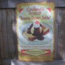 DREAMY DESSERT DELITE RETRO TIN ICE CREAM SIGN