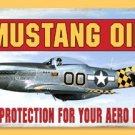 MUSTANG OIL HEAVY METAL SIGN