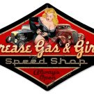 GREASE GAS GIRLS HEAVY METAL SIGN