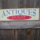 ANTIQUES BUY SELL RESTORE HEAVY METAL SIGN