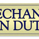 RICHFIELD MECHANIC ON DUTY METAL SIGN