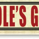 ASSHOLE'S GARAGE HEAVY METAL SIGN
