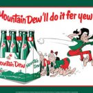 MOUNTAIN DEW TIN METAL SIGN