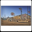 TEXACO GAS TRUCK HEAVY STEEL SIGN