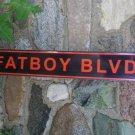 FATBOY BLVD TIN SIGN