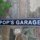 POP'S GARAGE TIN SIGN