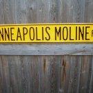 MINNEAPOLIS MOLINE RD HEAVY STEEL STREET SIGN