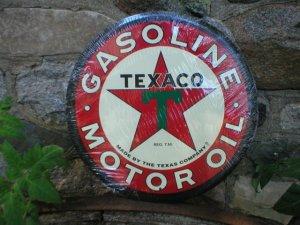 "LARGE TEXACO MOTOR OIL 24"" TIN SIGN"