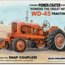 ALLIS-CHALMERS TRACTOR TIN SIGN WD 45