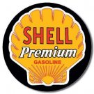 SHELL PREMIUM ROUND TIN SIGN