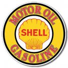 SHELL GAS & OIL ROUND TIN SIGN