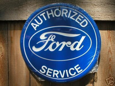 FORD AUTHORIZED SERVICE TIN SIGN RETRO CAR AUTO SIGNS
