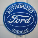 "FORD AUTHORIZED SERVICE 24"" TIN SIGN"