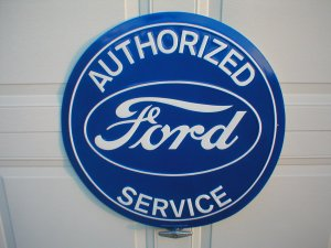 """FORD AUTHORIZED SERVICE 24"""" TIN SIGN"""