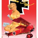 FOKKER TRIPLANE AIRCRAFT HEAVY METAL SIGN