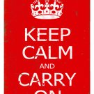 KEEP CALM CARRY ON HEAVY METAL SIGN RED