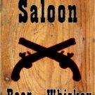 OLD TOWN SALOON DANCING GIRLS HEAVY METAL SIGN