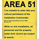 AREA 51 RESTRICTED UFO ALIEN HEAVY METAL SIGN