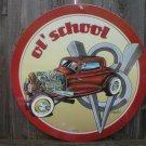 OL SCHOOL HOT ROD Heavy Metal Sign