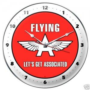 Flying A Gasoline metal clock AUTO GARAGE SHOP