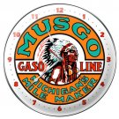 Musgo Gasoline metal clock AUTO GARAGE SHOP
