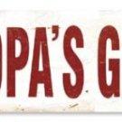 GRANDPA'S GARAGE HEAVY METAL SIGN OLD LOOK