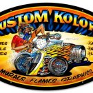 KUSTOM COLORS large oval metal sign