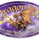 DRAGON OIL large oval metal sign