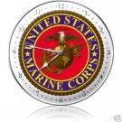 USMC Marine Corps Metal Clock