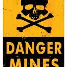 Danger Mines Heavy Metal Sign Yellow Black