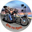Live To Ride Chopper Biker Heavy Metal Sign